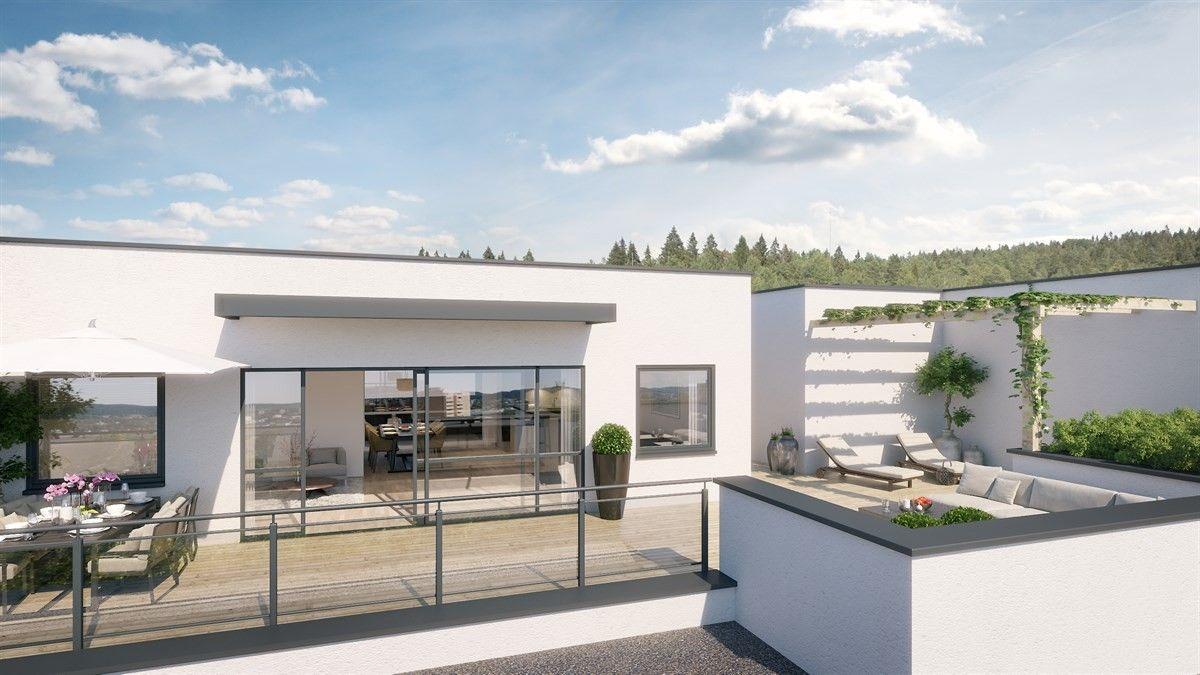 Erdgeschoss haus front design finn u lutvanntoppen  heis direkte fra underjordisk garasje