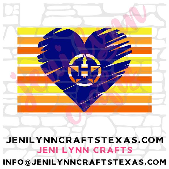 Download Astros Retro Heart With Lines(SVG, JpG, PNG, Vector, PdF ...