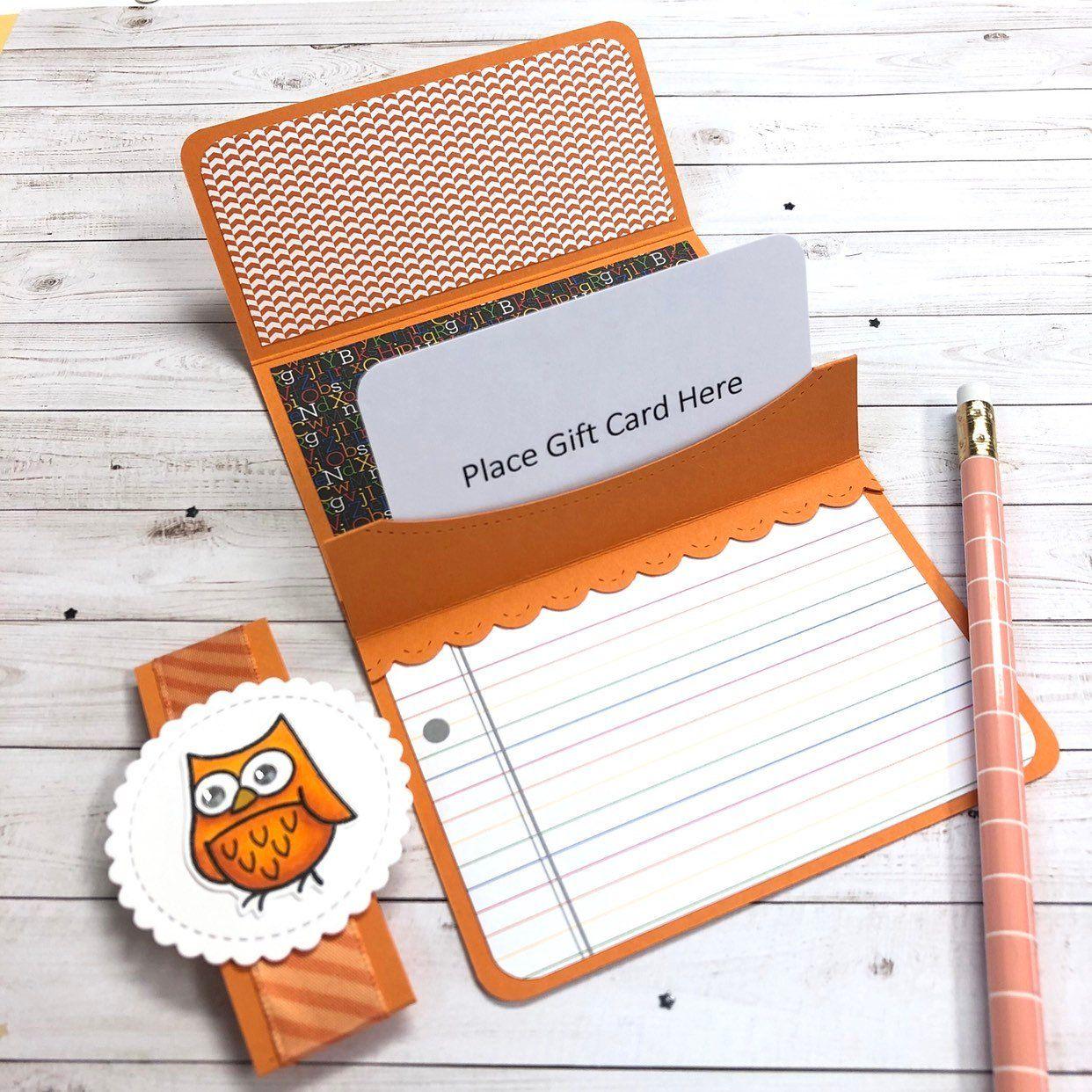 pop up gift card holder for teacher or birthday blank