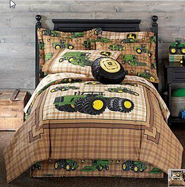 John Deere Twin Comforter Sheets Sham Bed Skirt 6 Piece In A Bag