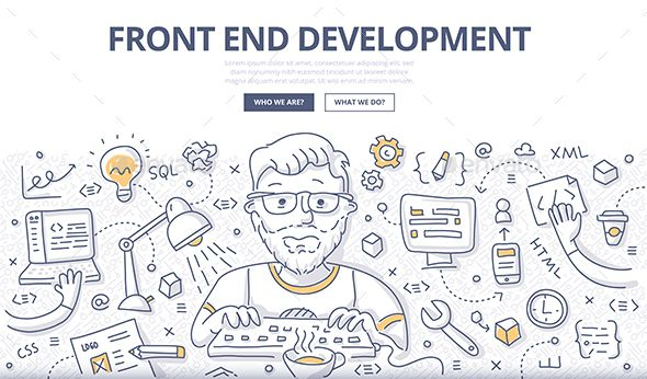 Front End Development Doodle Concept Web Development Design Business Vector Illustration Doodle Images