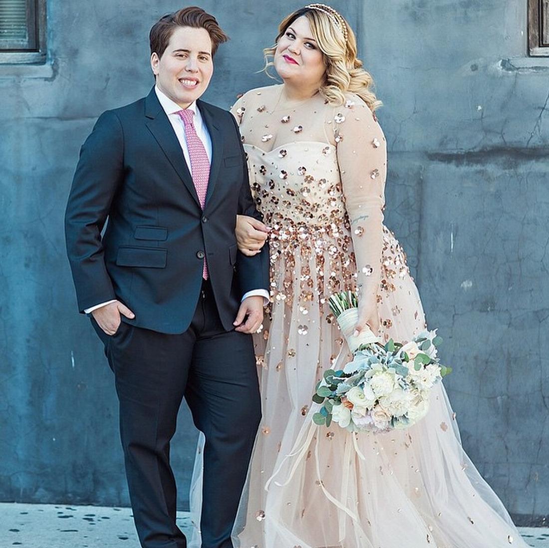 This Plus-Size Blogger\'s Custom Designer Wedding Dress Is So ...