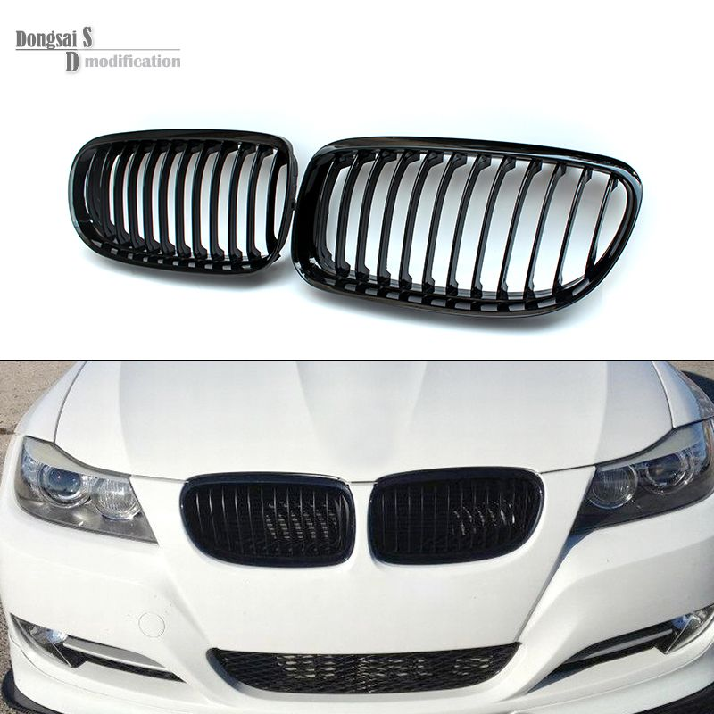 08 11 3 Series Racing Grill Wide Kidney Front Abs Grille For Bmw E90