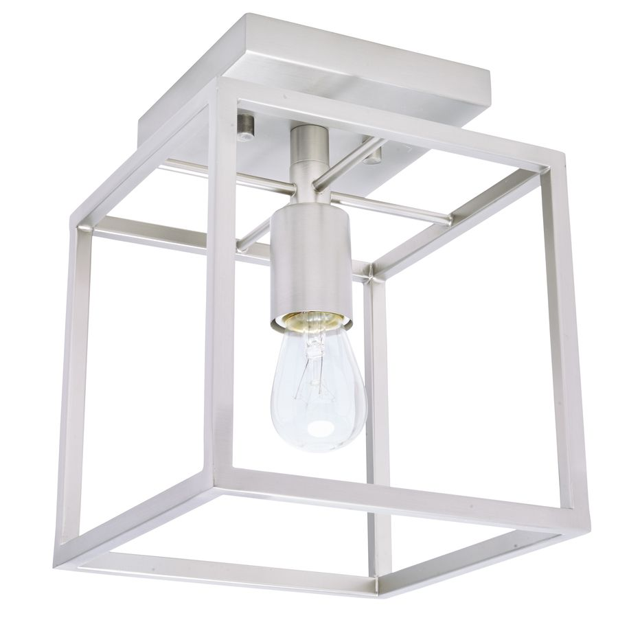 allen roth arctura w brushed nickel metal semiflush mount light at loweu0027s this brushed nickel semiflush mount light from the arctura collection is a