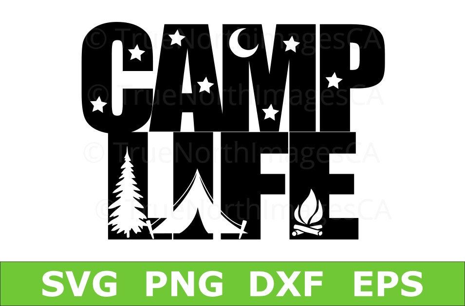 Camper SVG Happy Camping Vector Clip Art Life Svg Files For Cricut Silhouette