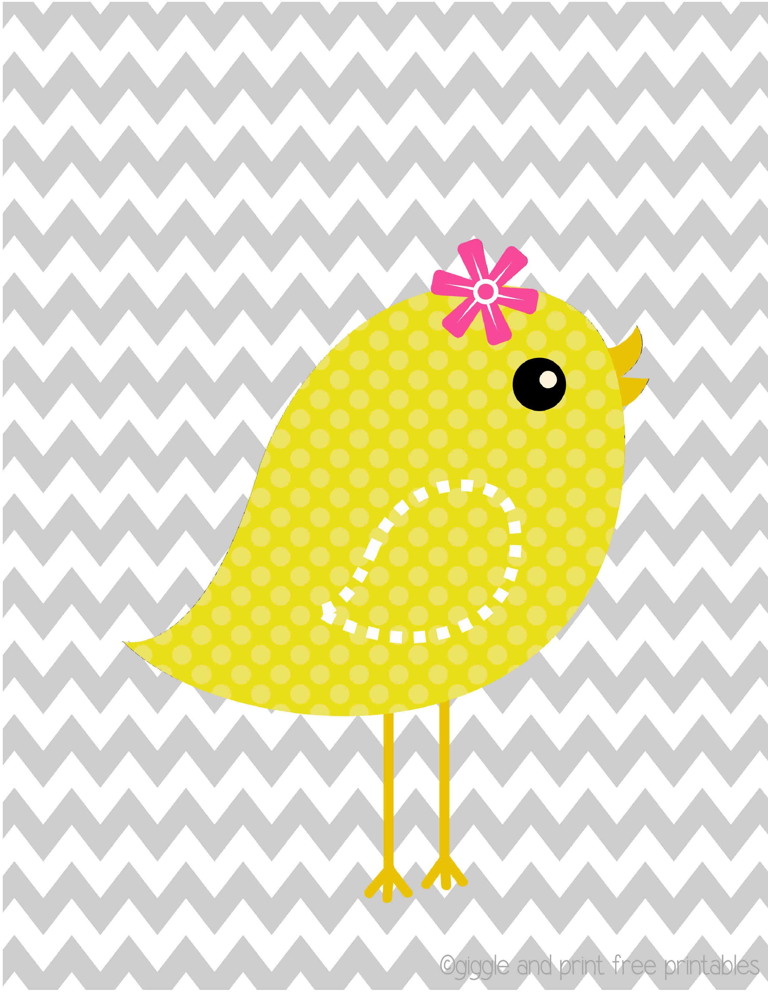 sweet yellow bird! Nursery Art FREE printable! Giggle and Print ...