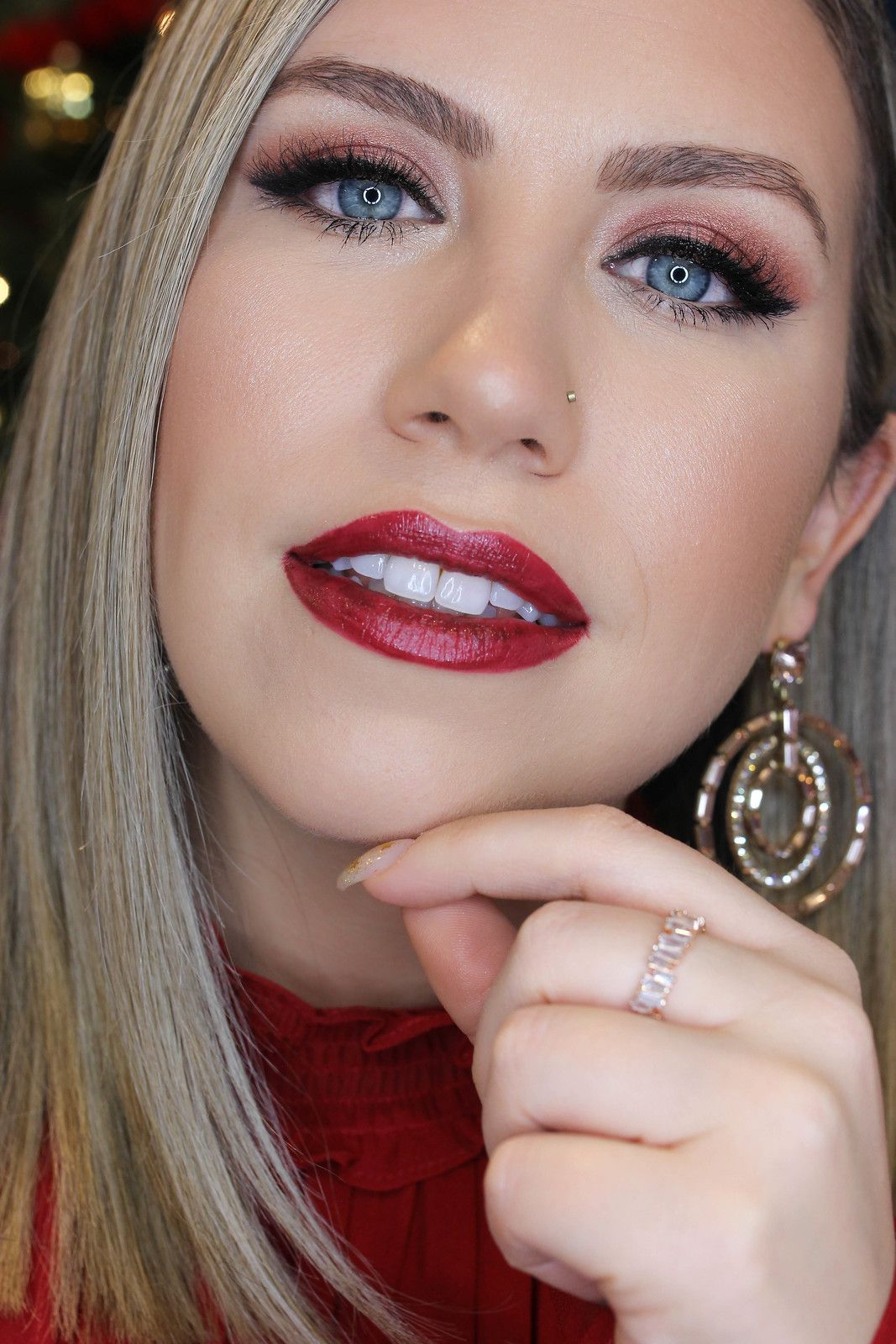 Holiday Makeup Monday Tutorial Monochromatic Wine Makeup