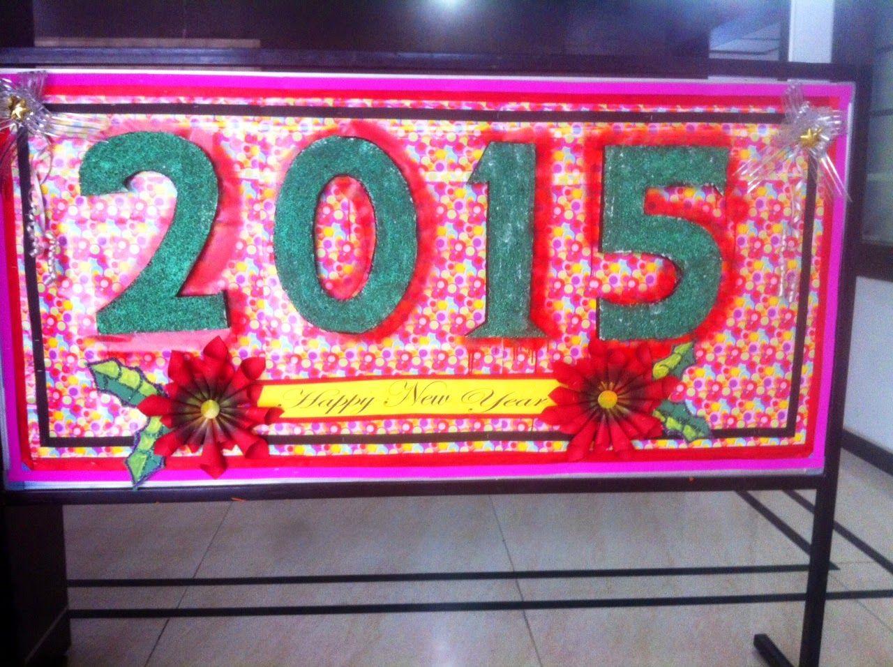 New Year bulletin board | Class decoration, Crafts ...