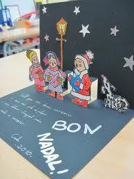 manualitats postals nadal nens - Cerca amb Google