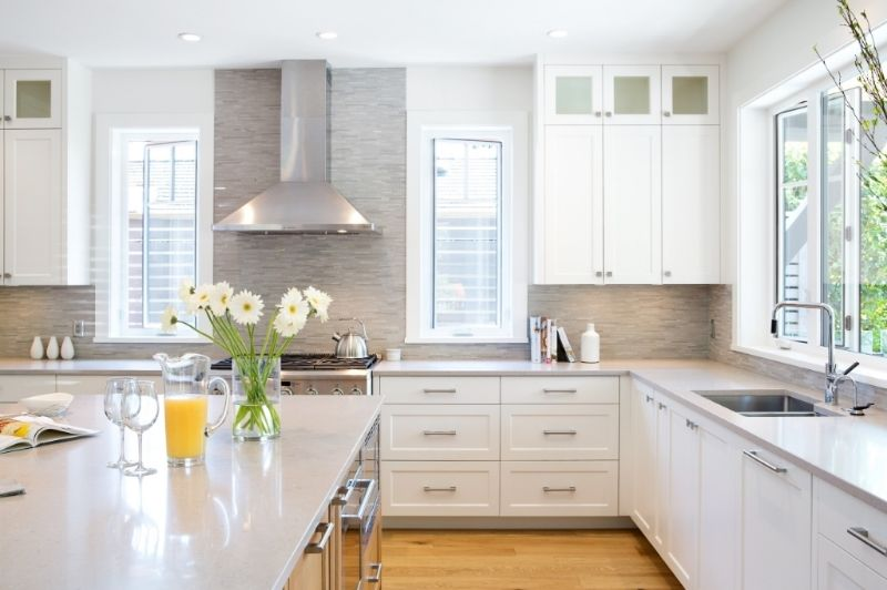 Best Caesarstone Clamshell Countertops In This All White 400 x 300