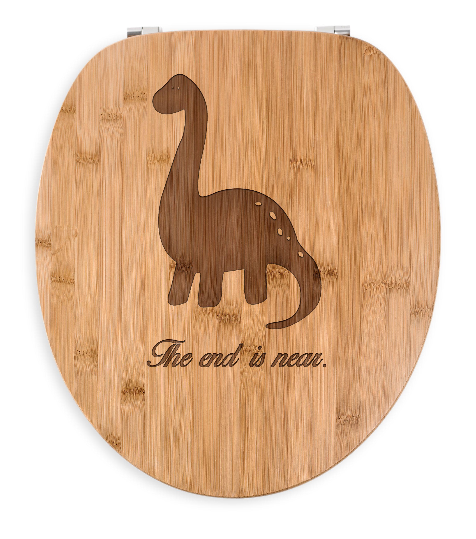 wc sitz dinosaurier langhals aus bambus coffee das original von mr mrs panda ein. Black Bedroom Furniture Sets. Home Design Ideas