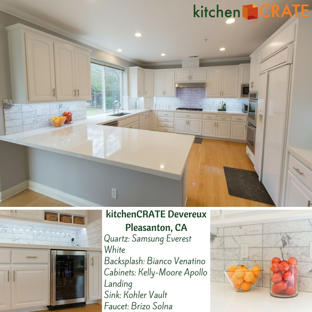 KitchenCRATE Devereux Court   Pleasanton, CA   Clean white ...