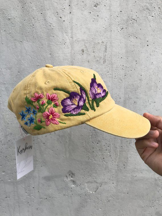 e2dce7cc1 Black Friday Sale / Cyber Monday / Hand Embroidered Hat / Custom ...