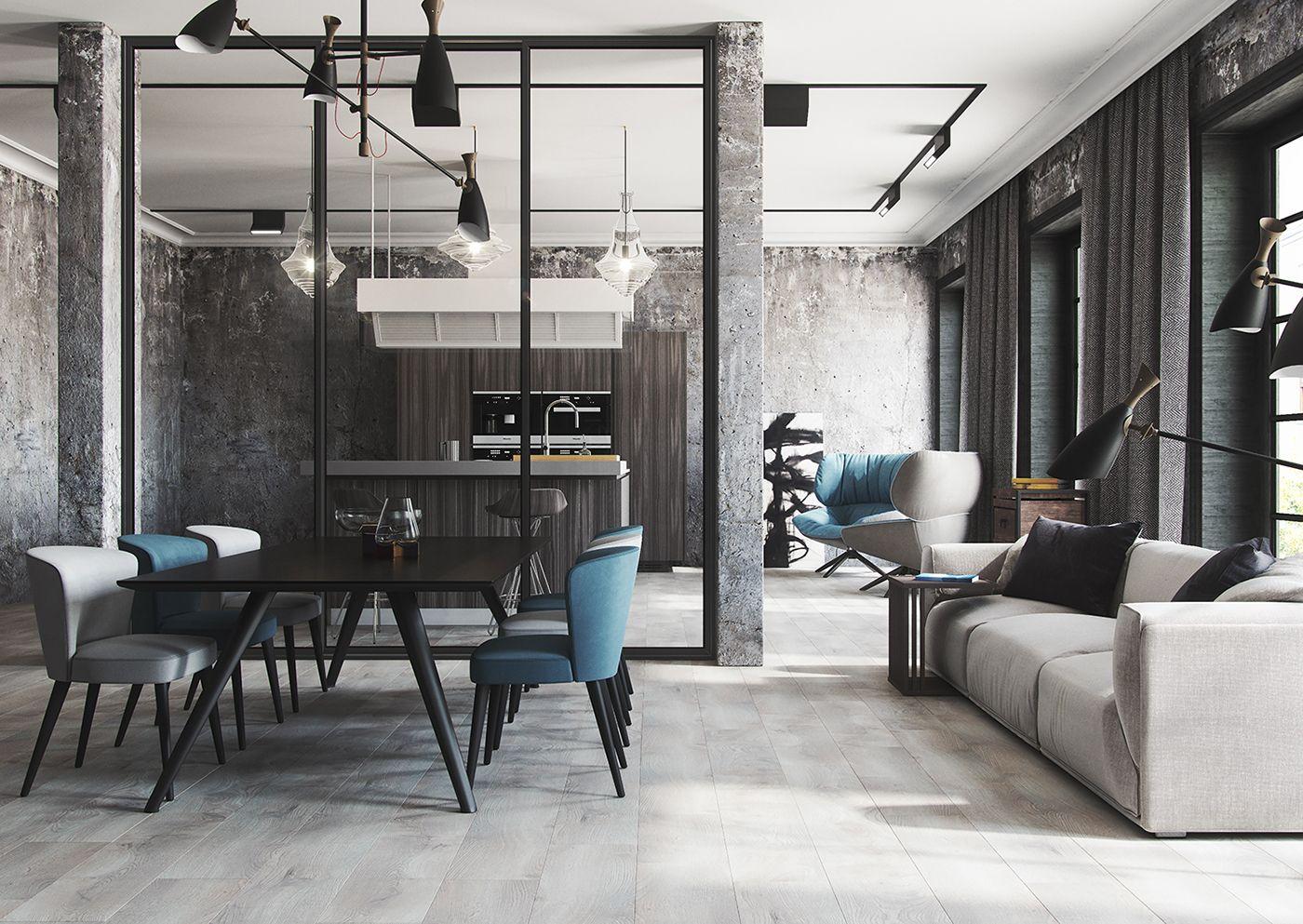 modern loft on behance house in 2019 pinterest modern loft rh pinterest com