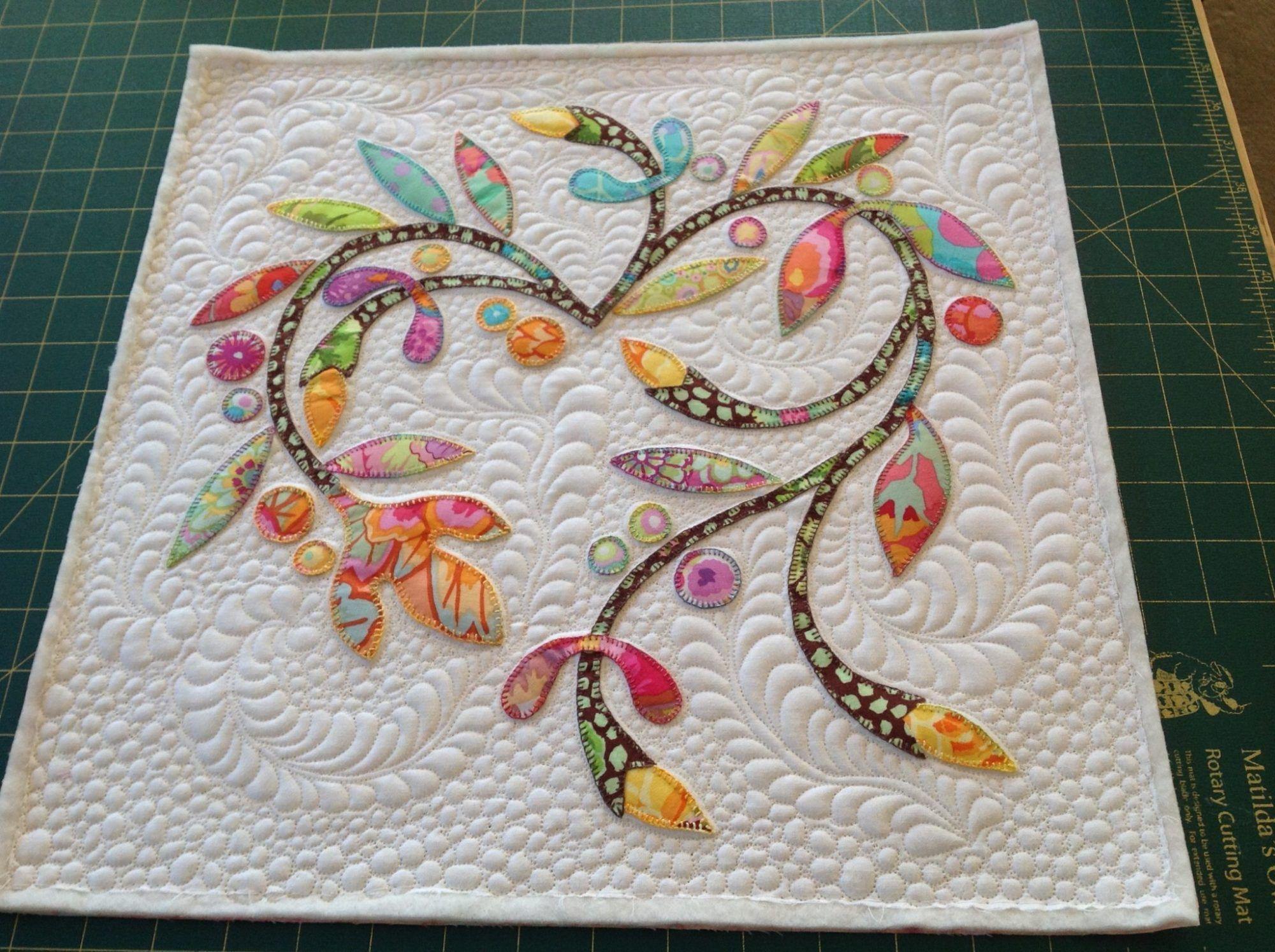 Spring time applique mini quilt quilting aplicación patchwork