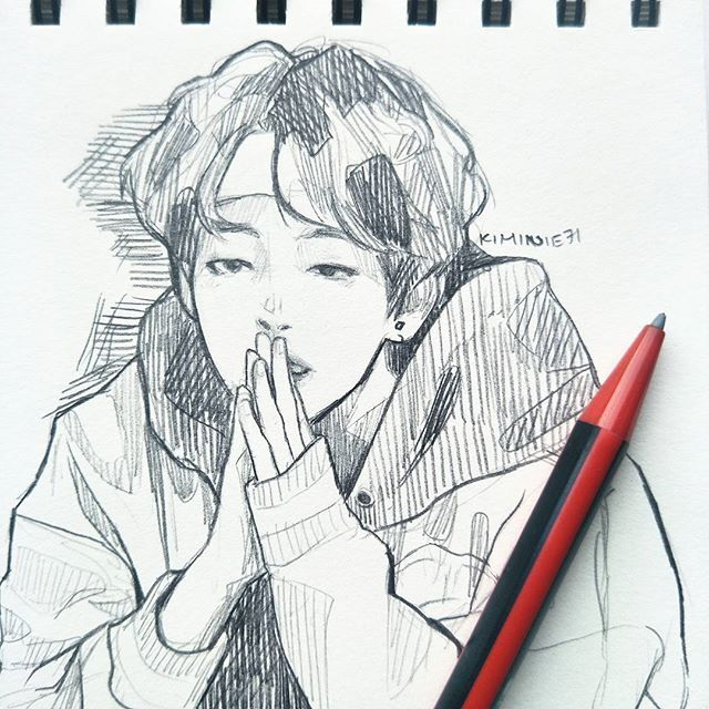 Pin By Citlalli Rodriguez On Kpop Fanart Bts Drawings Kpop