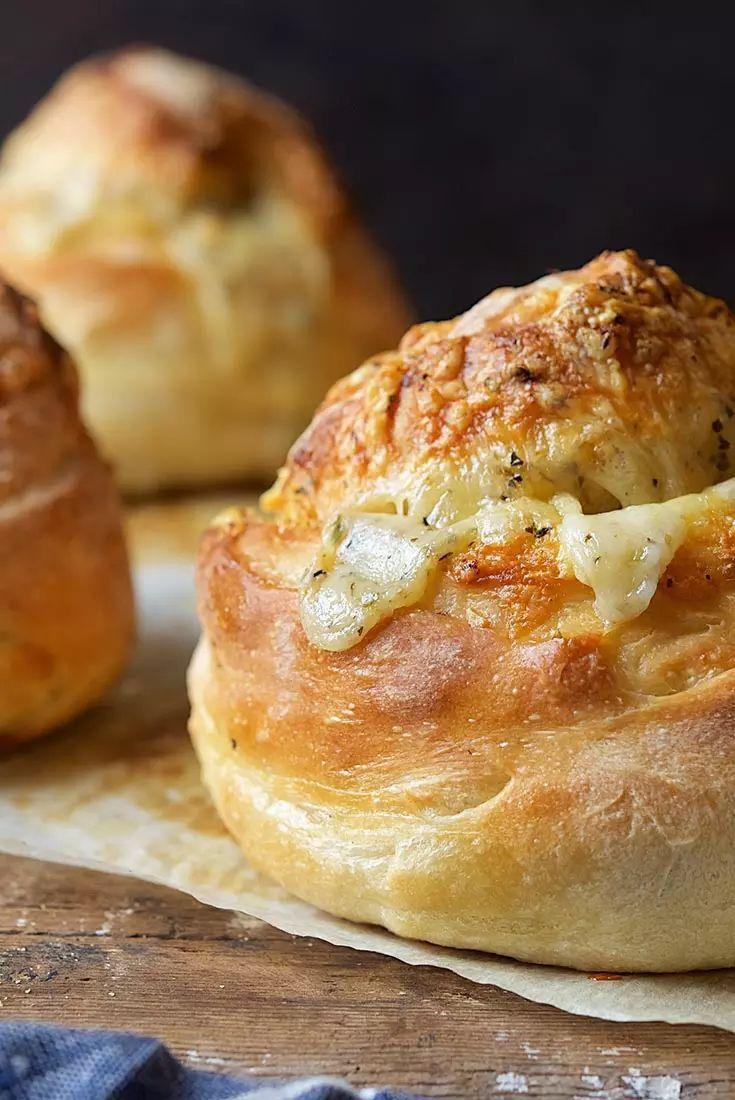 GruyèreStuffed Crusty Loaves Recipe Recipes, King