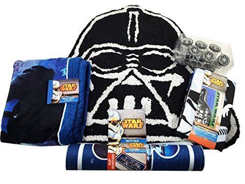 Star Wars Bathroom Set Shower Curtain Hooks Bath Rug Bath Towel And Bath  Tub Mat *