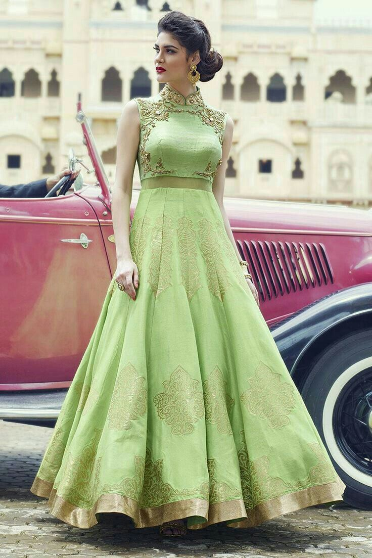 75d7741c57a5ba Silk Gown, Raw Silk Lehenga, Lehenga Gown, Anarkali Dress, Anarkali Suits,