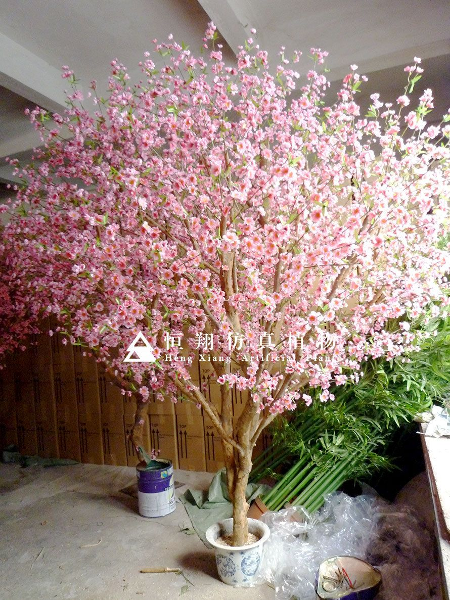 Indoor Home Artificial Cherry Blossom Tree Bonsai For Sale Artificial Cherry Blossom Tree Bonsa Artificial Cherry Blossom Tree Potted Trees Tree Branch Decor