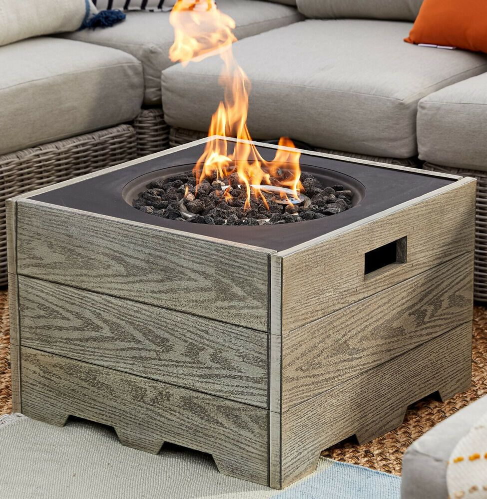 Fire Pit Table Top Outdoor Fireplace Square Propane Gas Burner Patio Garden Yard Ahgdfirepitschiminea In 2020 Fire Pit Table Fire Pit Table Top Outdoor Fire Pit Table