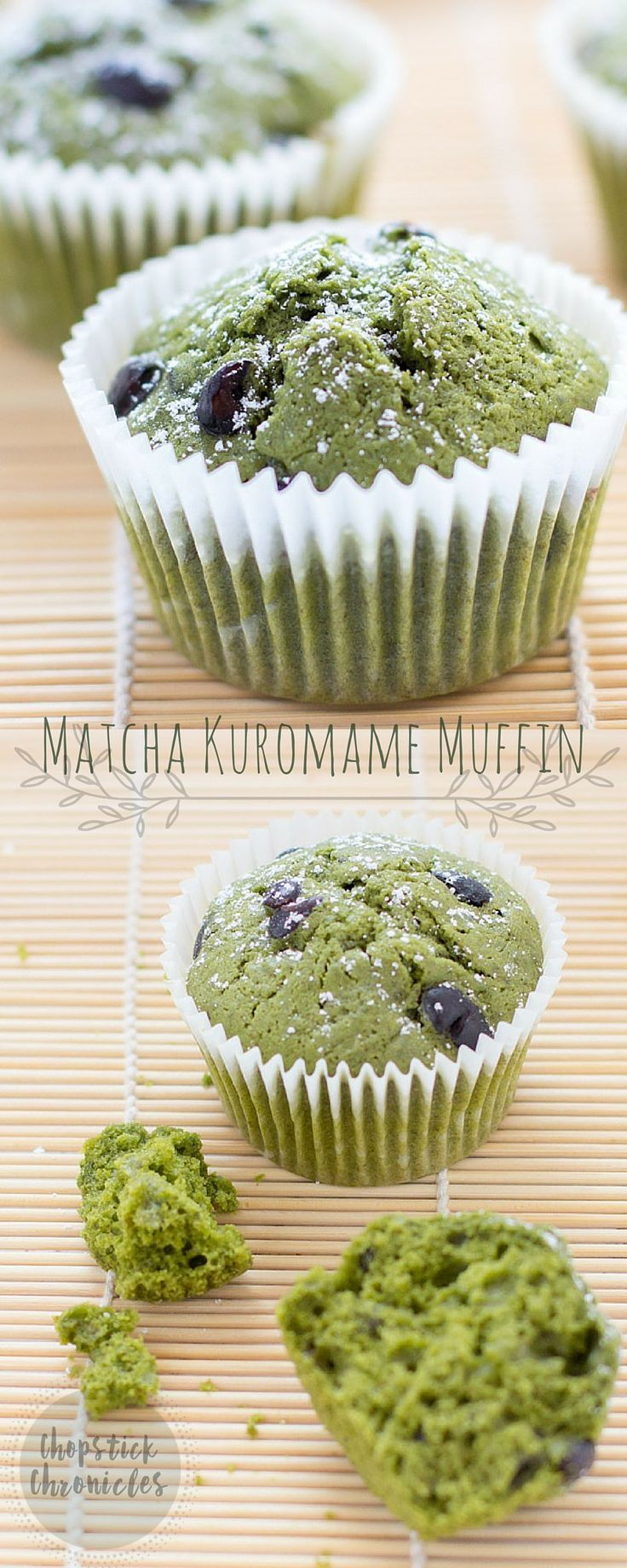 Photo of Matcha Green Tea Muffins with Kuromame | Chopstick Chronicles