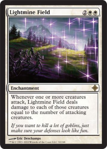 Lightmine Field mtg Magic the Gathering white rare ...