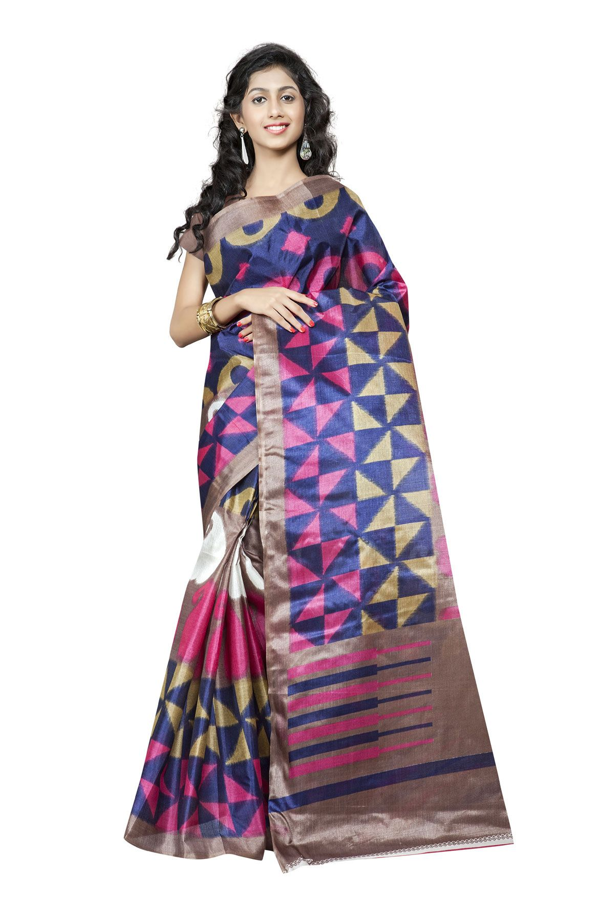 http://www.thatsend.com/shopping/lp/fvp/TESG229142/qf/color[]pink  Pink Silk Casual Saree Apparel Pattern Printed. Work Print. Blouse Piece Yes. Occasion Festive, Sangeet. Top Color Ivory.