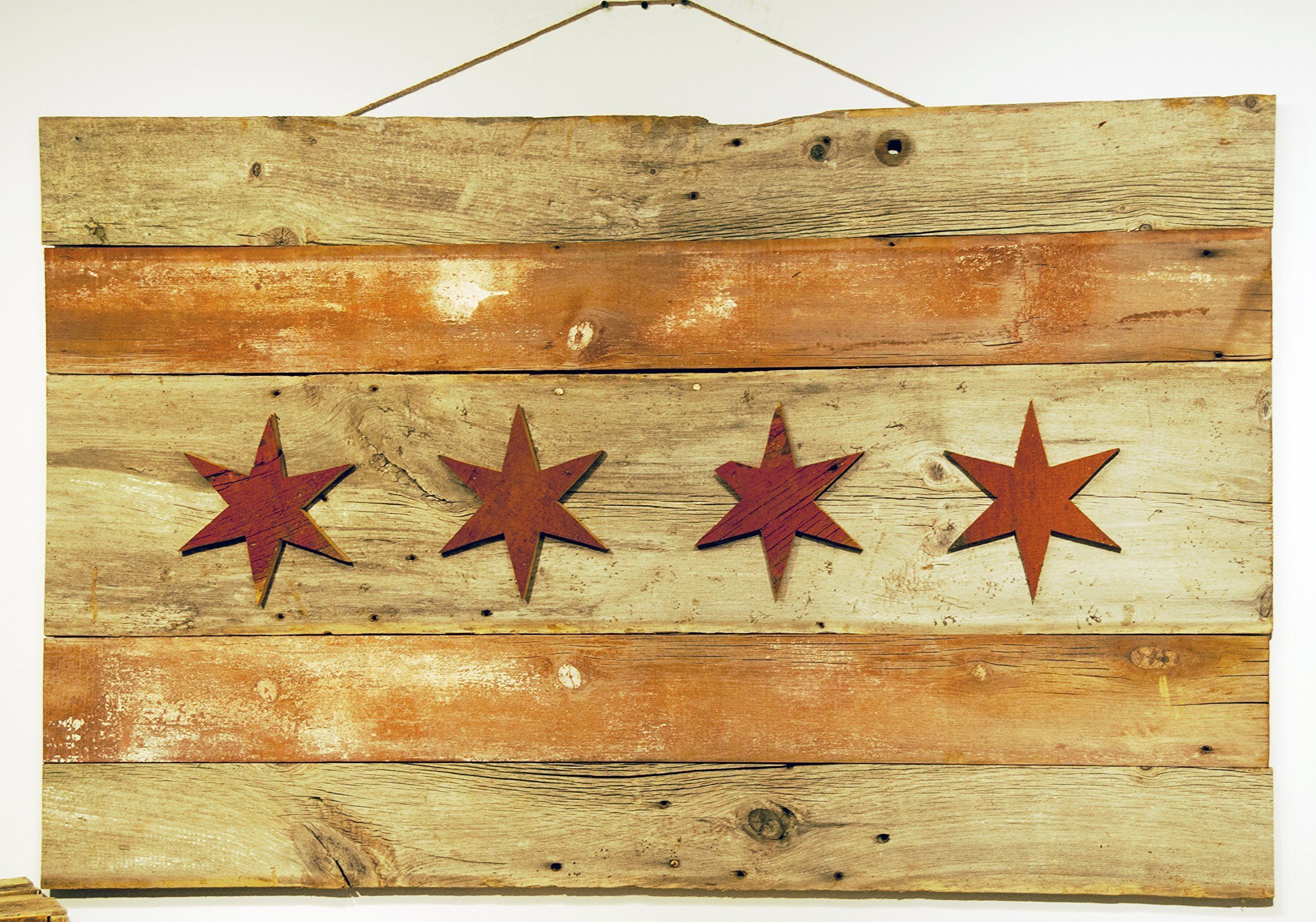Large Reclaimed Wood Chicago Flag. Here is a large Chicago Flag ...