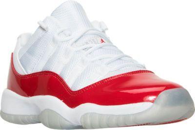 reputable site 83fdb e0558 Boys' Grade School Air Jordan Retro 11 Low Basketball Shoes ...