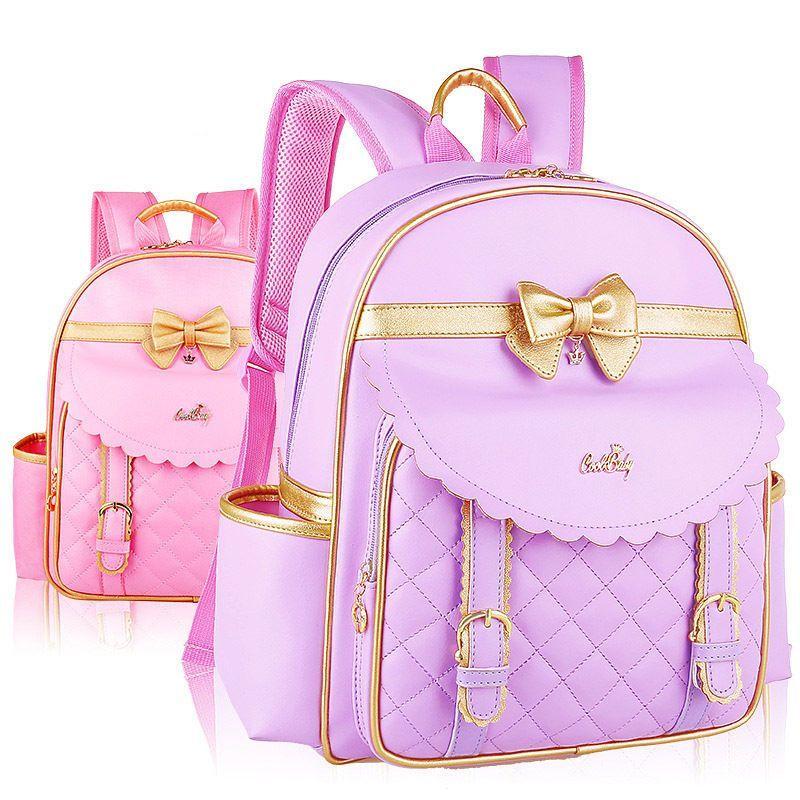 01a94407ee5e Fashion Kids Girls Princess Pu Pupil School Shoulder Bags Backpack Bowknot  Gift