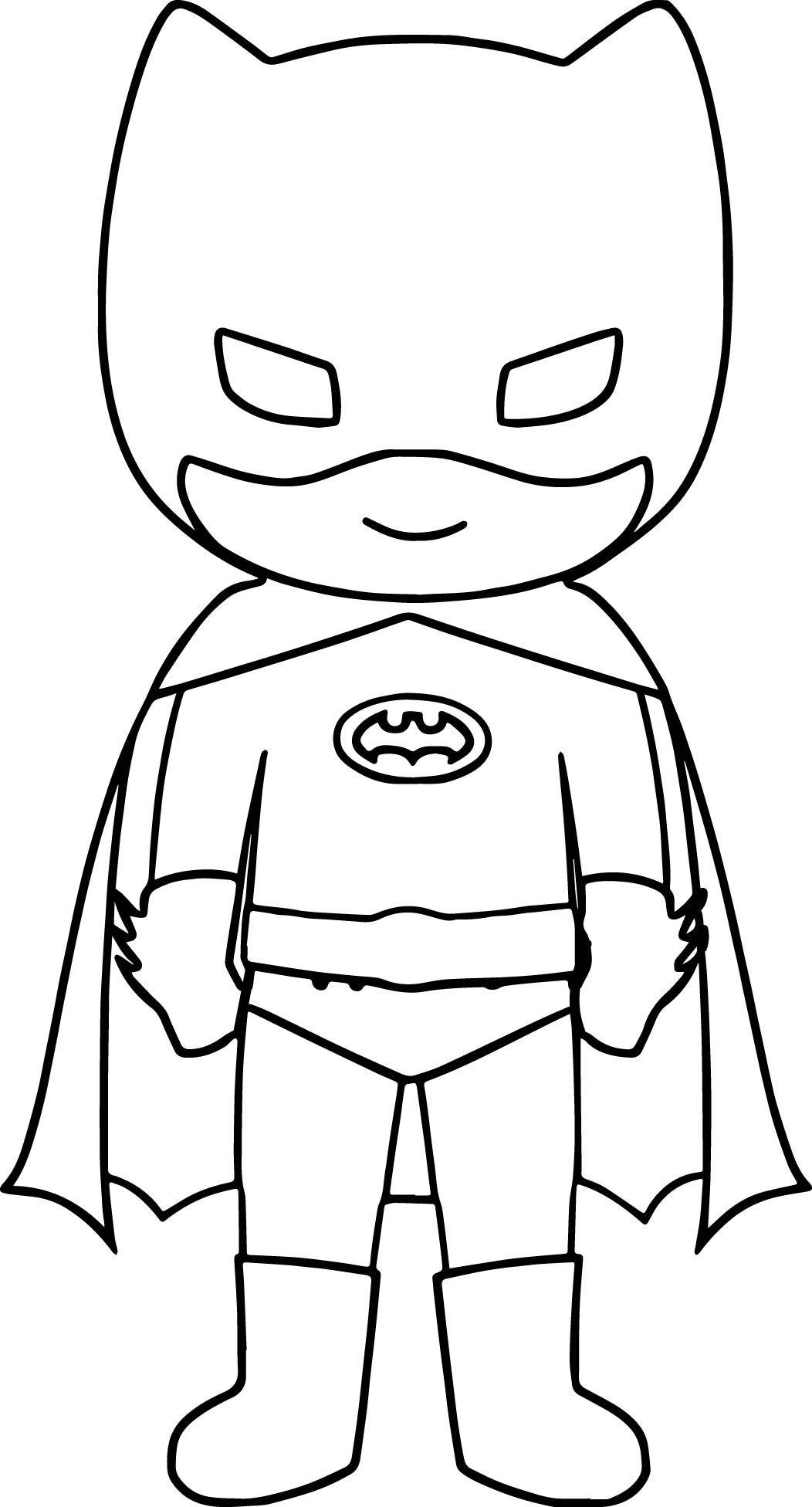 Cool Bat Superhero Kids Coloring Page