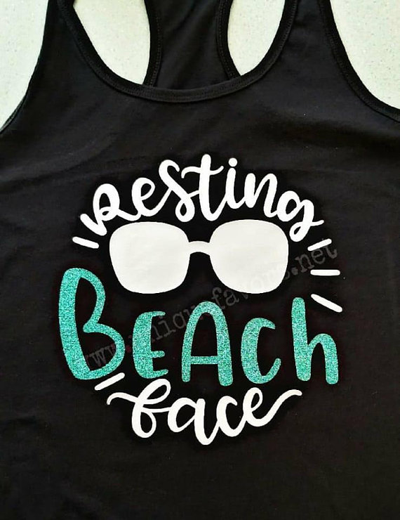 Resting Beach Face Beach Life Inspired Tank Top Other Colors
