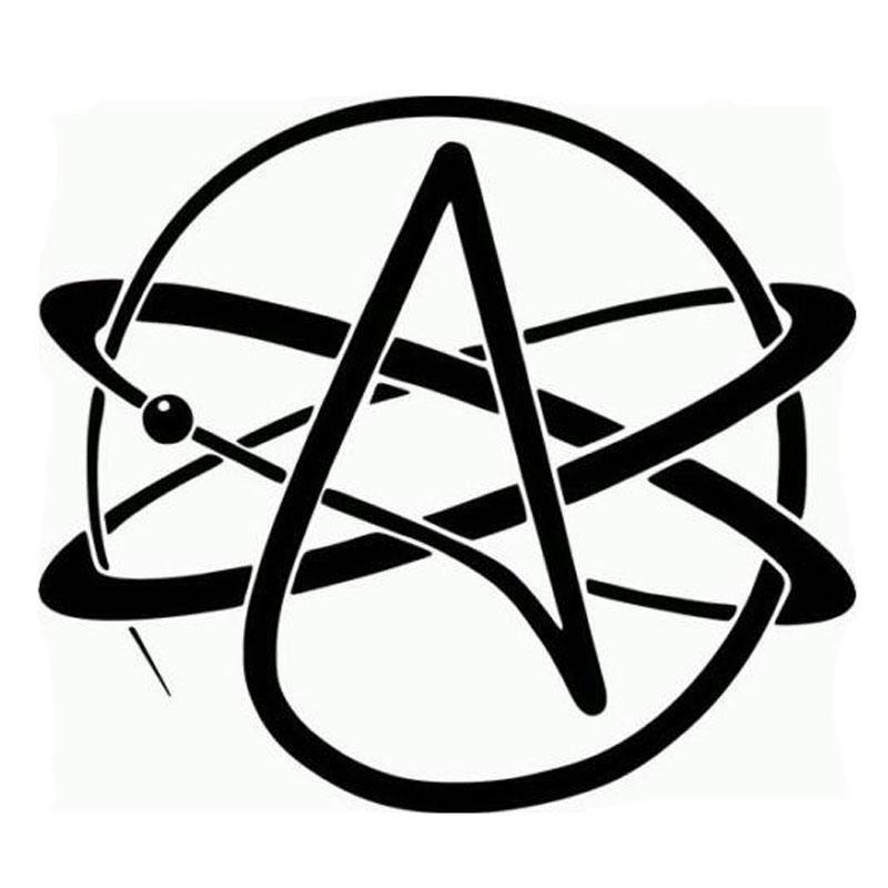 Visit To Buy 12 512 5cm Atheist Symbol Car Sticker Decals
