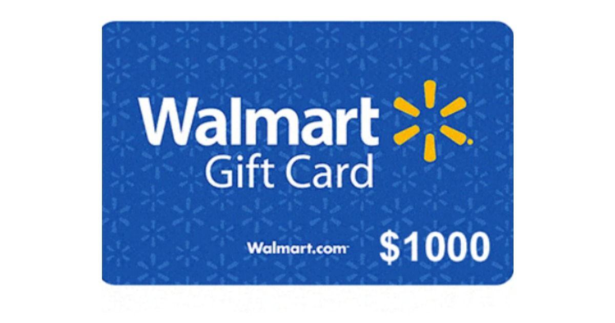 Walmart gift card giveaways