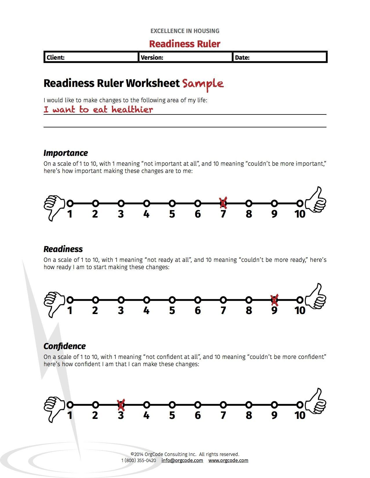 Stages Of Change Worksheet In