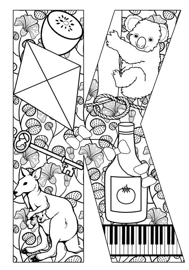 Things that start with k free printable coloring pages for The letter k coloring pages