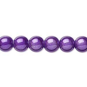 Bead, miracle, acrylic, purple, 8mm round. Sold per pkg of 10.