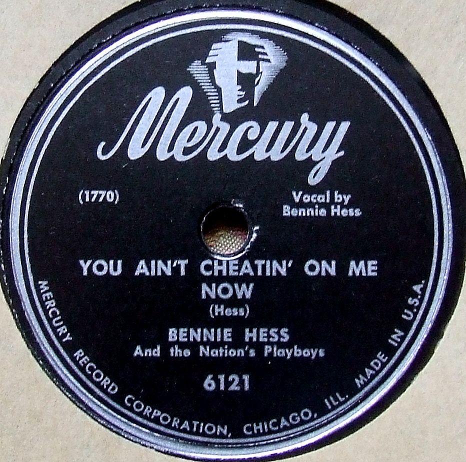 Bennie Hess Mercury 6121 1948 Born 10 February 1914 Chriesman Texas Died 22 November 1984 Houston Texas Record Store Rhythm And Blues Vinyl Records