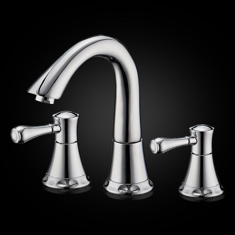 Luxury 8 Inches Widespread Lavatory Basin Faucet 3 Holes Waterfall ...