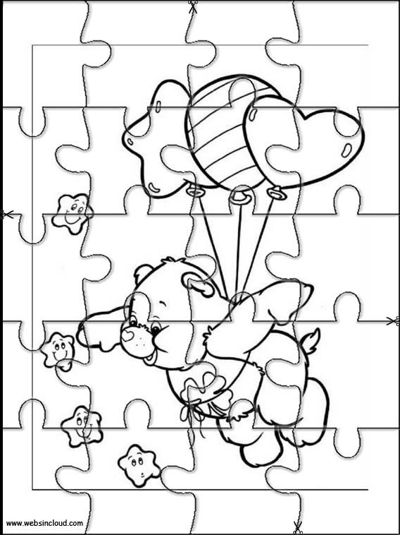 Printable jigsaw puzzles to cut out for kids Care Bears 15