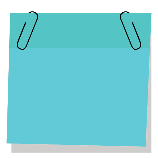 Blue Sticky Note With Paperclip Ad Paid Ad Sticky Note Paperclip Blue Sticky Notes Paper Clip Notes Template