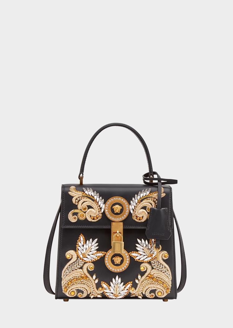 Embroidered Baroque Icon Handbag - Versace Top Handle  80e91d62bf999