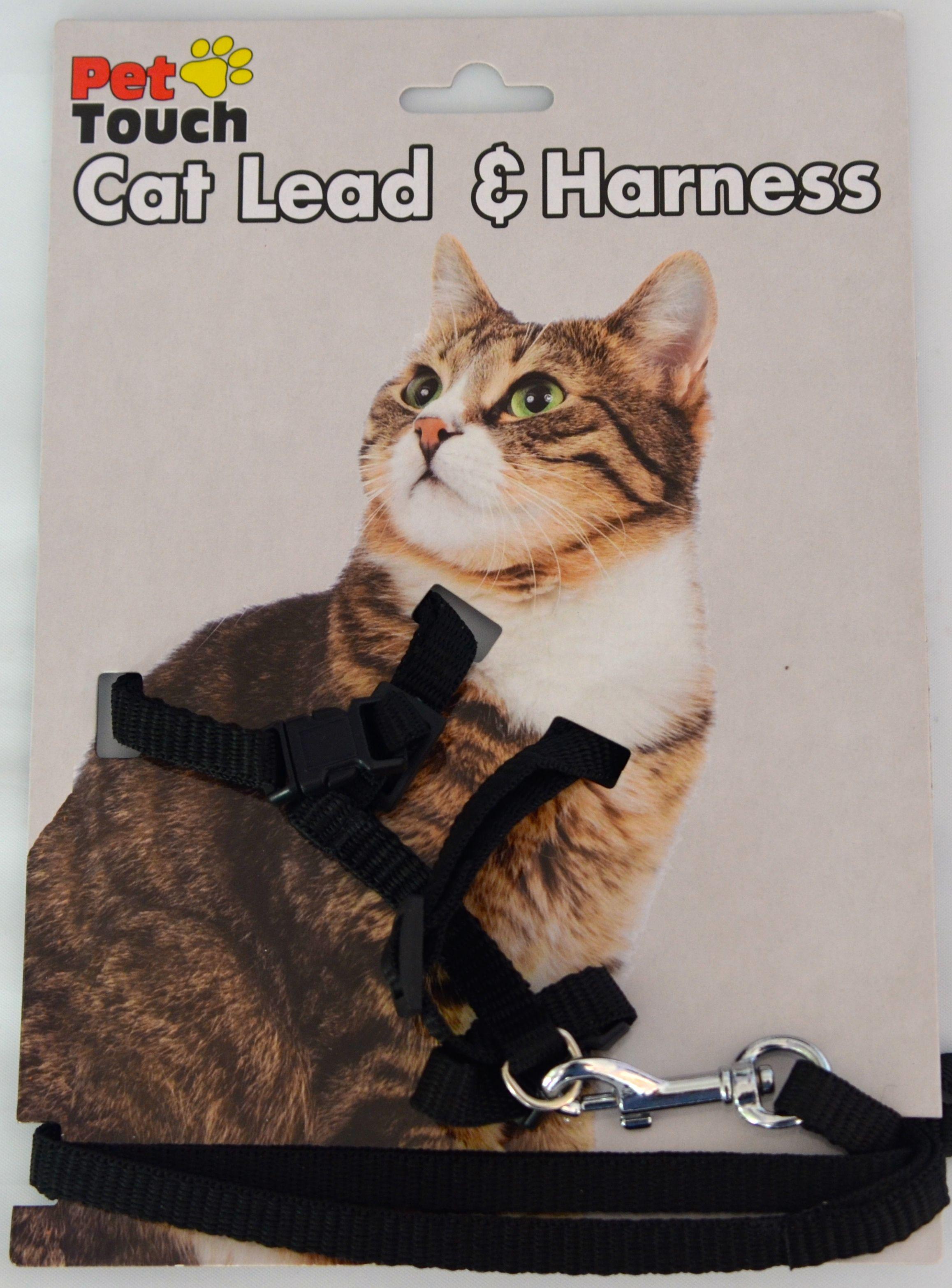 Black cat harness cat harness cat pet supplies cats