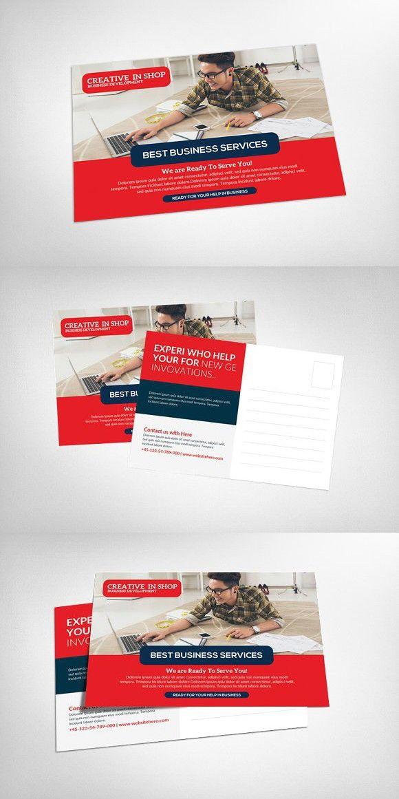 Business Postcard Template #advert | Business Flyer | Pinterest ...