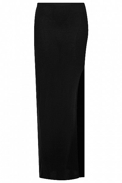 Black Open Leg Maxi Skirt by Topshop