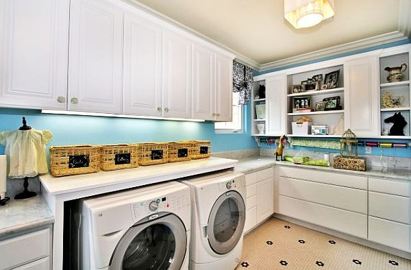 Hahaha Yeah Like My Little Corner With A Washer And Dryer Could Look Like This Oh One Can D Modern Laundry Rooms Laundry Room Design Laundry Room Layouts