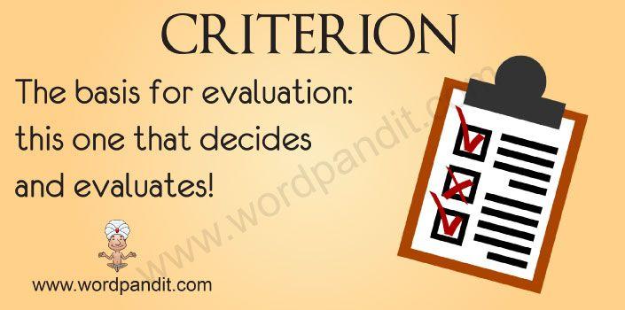The plural of criteria is criteria. 'Criteria' is the plural form ...