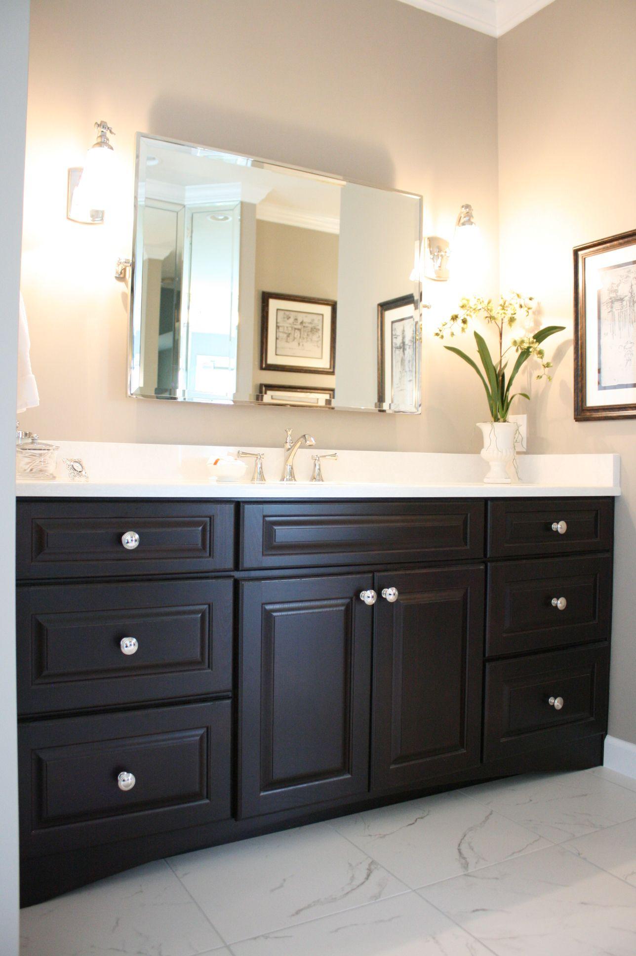 Koch Classic cabinetry Seneca raised panel door style Mocha