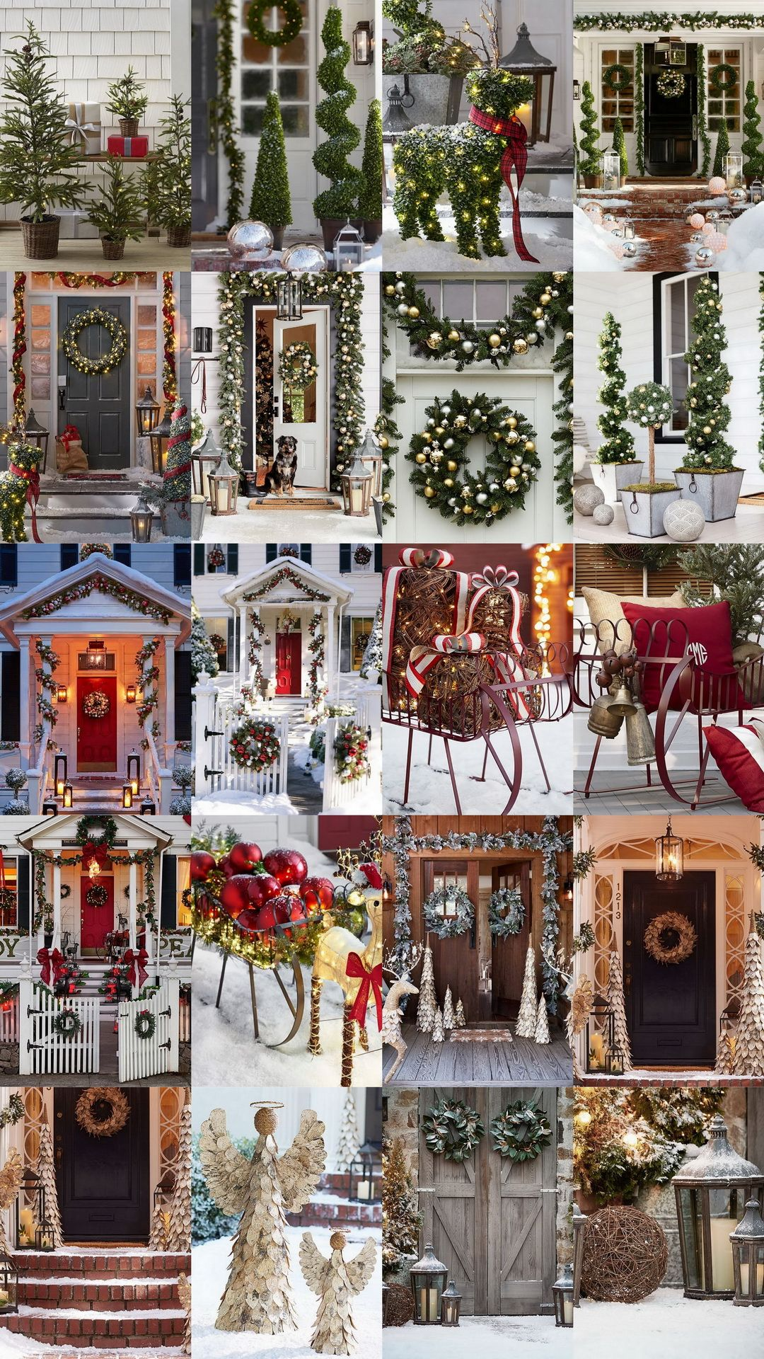 20 exceptional outdoor christmas decorations potterybarn - Pottery Barn Outdoor Christmas Decorations